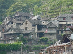 Old stone houses called 'Rustici'