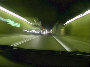 inside the St. Gotthard tunnel