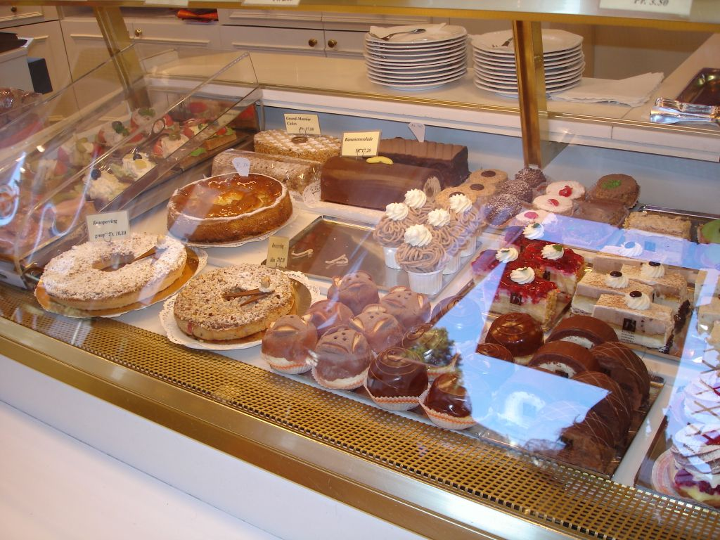 Sweets in the store of the hotel
