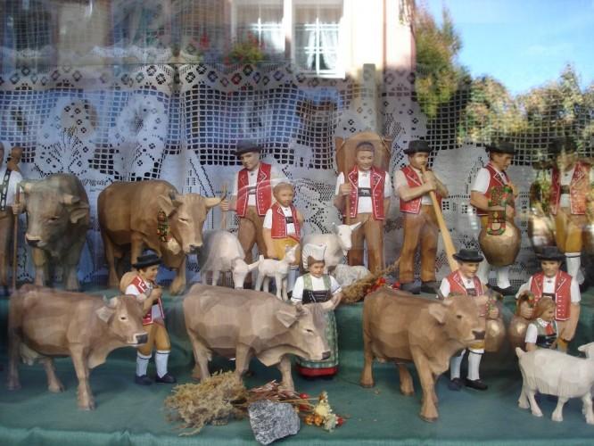 Rural Appenzell scene in store window