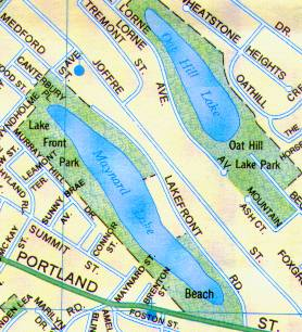 Map Maynard & Oat Hill Lakes