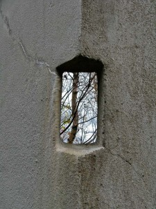 opening in wall