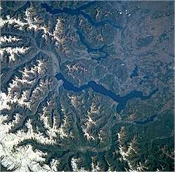 Lago Magiore from space