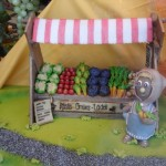 Marzipan vegetable stand