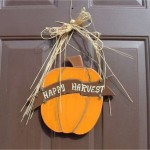 Fall decoration at a front door